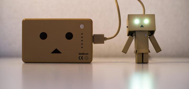 Recharging Danbo (Robot) - by Takashi Hososhima